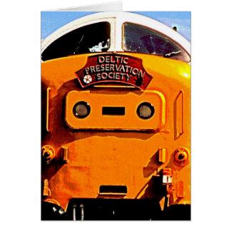 Deltic British Diesel Train (2) Greeting Card