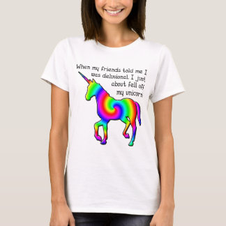 Delusional Unicorn Funny T-Shirt