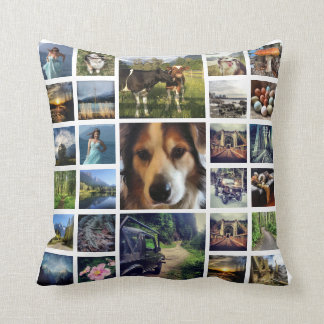 Deluxe 54 Instagram Photos Mega Collage Cushion