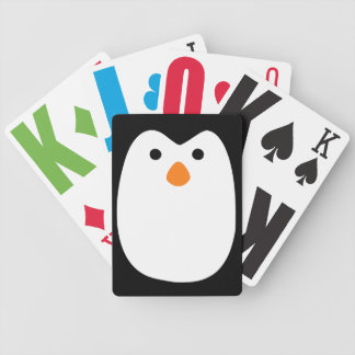 Deluxe adorably cute penguin face Playing Cards