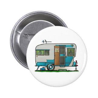 Deluxe Camper Trailer 6 Cm Round Badge
