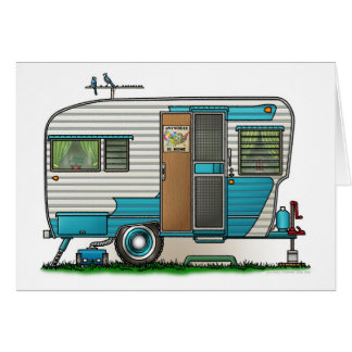 Deluxe Camper Trailer Greeting Cards