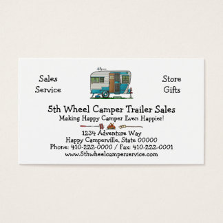 Deluxe Camper Trailer M Business Card