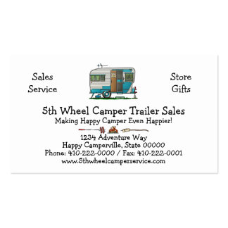 Deluxe Camper Trailer M Pack Of Standard Business Cards