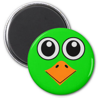 deluxe colorful bird face 6 cm round magnet