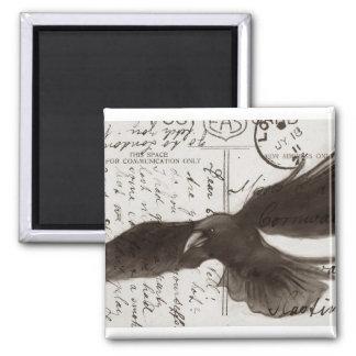 deluxe crow magnet