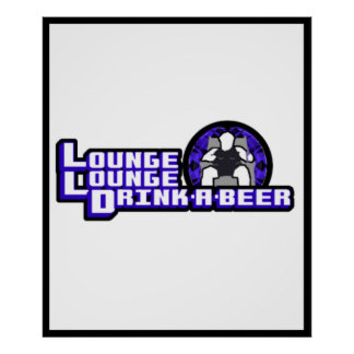 Deluxe Lounge Lounge Drink a beer Posters