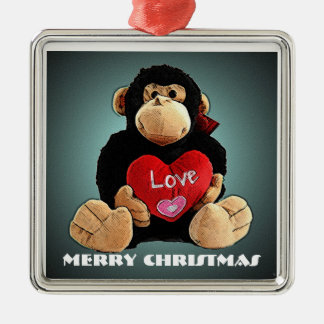 Deluxe Monkey Love Christmas Ornament