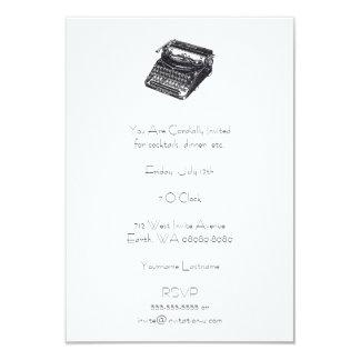Deluxe Noiseless Retro Typewriter 9 Cm X 13 Cm Invitation Card