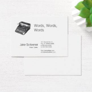 Deluxe Noiseless Retro Typewriter Business Card