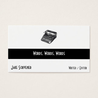 Deluxe Noiseless Retro Typewriter Business Card