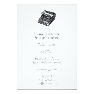 Deluxe Noiseless Retro Typewriter Card