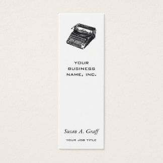 Deluxe Noiseless Typewriter Mini Business Card