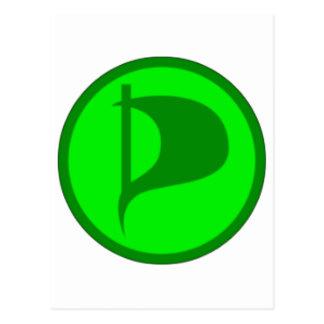 Deluxe Pirate Party Logo(see description) Postcard