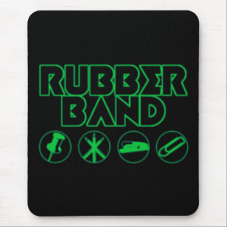 Deluxe Rubber Band Parody Logo Mouse Pad