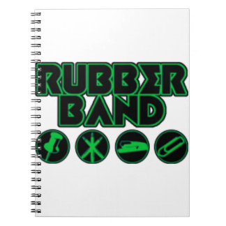 Deluxe Rubber Band Parody Logo Note Books