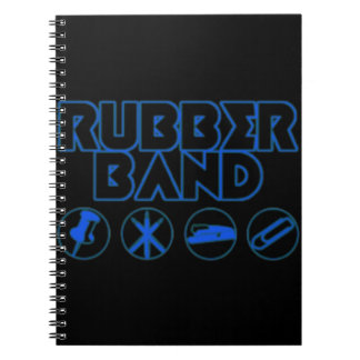 Deluxe Rubber Band Parody Logo Spiral Note Book