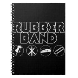 Deluxe Rubber Band Parody Logo Spiral Notebooks