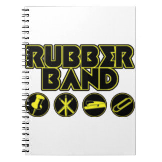 Deluxe Rubber Band Parody Logo Notebook
