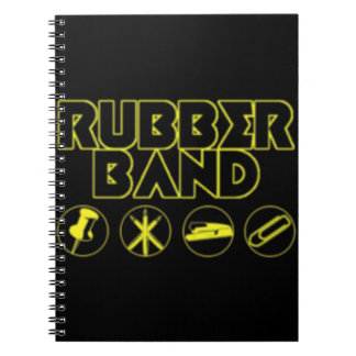 Deluxe Rubber Band Parody Logo Spiral Notebook