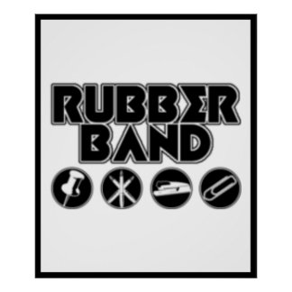Deluxe Rubber Band Parody Logo Poster