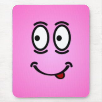Deluxe Silly Smiley faces Mouse Pad