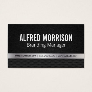 Deluxe | texture / silver / carbon business card