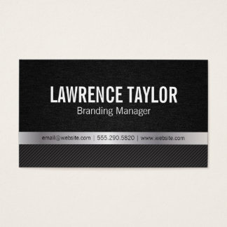 Deluxe | texture / silver / stripes business card