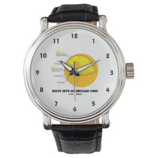 Delve Into My Nuclear Core (Cell Nucleus Attitude) Watches