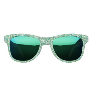 DEM PINEAPPLES Tropical Watercolor Pattern Sunglasses