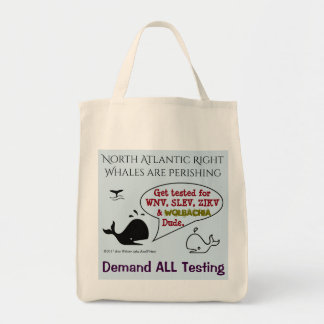 Demand ALL Testing for Whales by RoseWrites Tote Bag