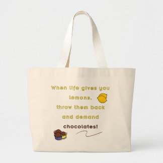 Demand Chocolate Large Tote Bag