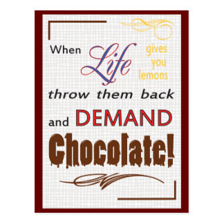 Demand Chocolate Postcard