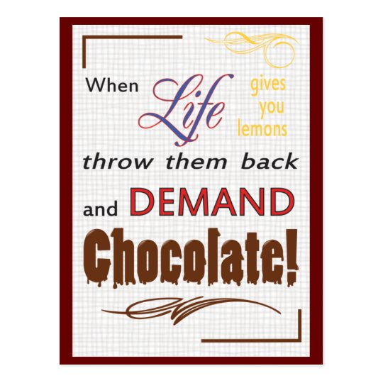 Demand Chocolate Postcard