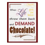 Demand Chocolate Postcards