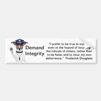 Demand Integrity  bumber sticker