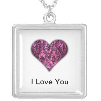 Demask Heart Necklace