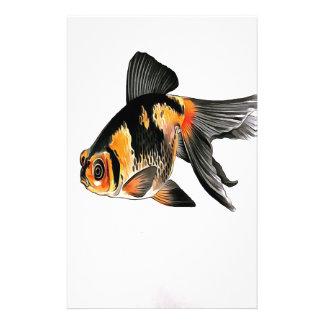 Demekin Goldfish Isolated Custom Stationery