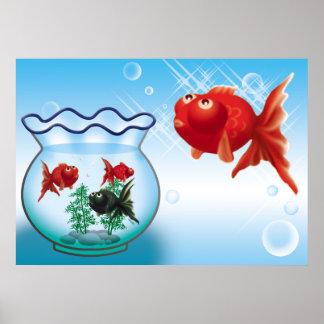 Demekin -Telescope Goldfish- Poster