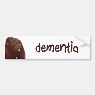 dementia car bumper sticker