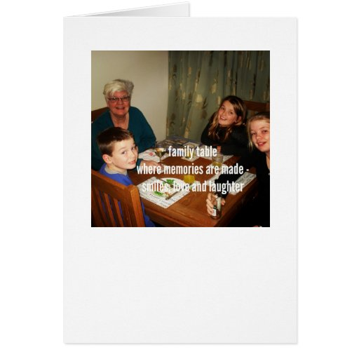 Dementia Journey Card: Family Table