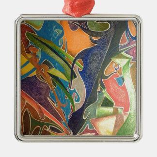 Dementia Silver-Colored Square Decoration