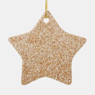 Demerara sugar ceramic star decoration