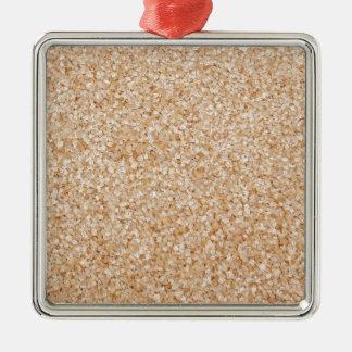 Demerara sugar Silver-Colored square decoration