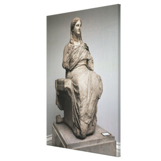 Demeter, statue from Knidos, Asia Minor, c.350BC Canvas Print