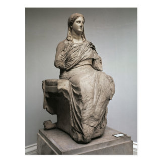 Demeter, statue from Knidos, Asia Minor, c.350BC Postcard