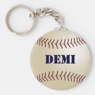 Demi Baseball Keychain by 369MyName