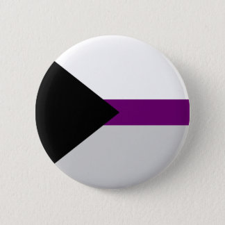 Demi-sexual flag button. 6 cm round badge