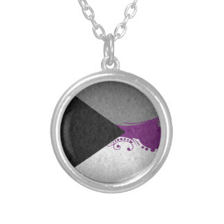 Demisexual Ornamental Flag Silver Plated Necklace