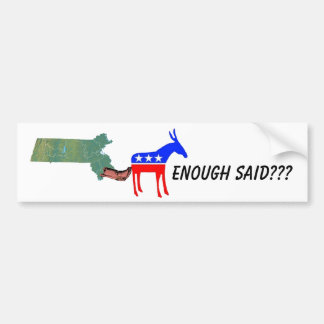 Demo donkey booted bumper sticker